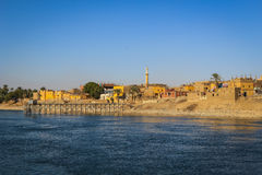 Village on the Nile River, Egypt Stock Images
