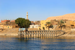Village on the Nile River, Egypt Royalty Free Stock Image