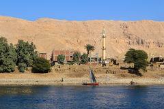 Village on the Nile River, Egypt Royalty Free Stock Photos