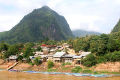 Paradise in the rainforest, village Nong Kiaw, Laos Stock Images