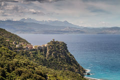 Village of Nonza on Cap Corse in Corsica Royalty Free Stock Photos