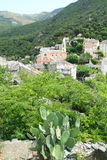The village of Nonza on Corsica island Royalty Free Stock Images