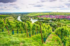 Village of Nordheim in a wine-growing district in Franconia Royalty Free Stock Images
