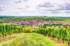 Village of Nordheim in a wine-growing district in Franconia Royalty Free Stock Photo