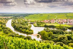 Village of Nordheim in a wine-growing district in Franconia Royalty Free Stock Photography