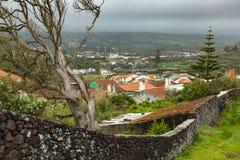 Village on north coast of Sao Miguel Island, Atlantic Ocean. Stock Images