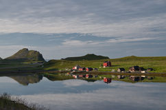 Village in northern norway. Royalty Free Stock Images