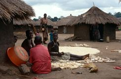 A village in northern Uganda. Stock Photography