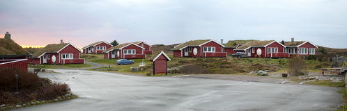Village norvégien Photos libres de droits