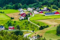 Village norvégien Le comté de plus d'og Romsdal norway Images libres de droits