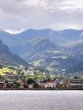 Village in Norvegian fjords Stock Photos
