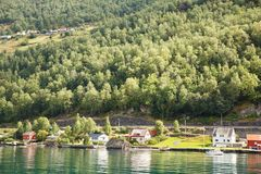 Village in Norway Stock Images