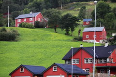 Village in  Norway Royalty Free Stock Photo