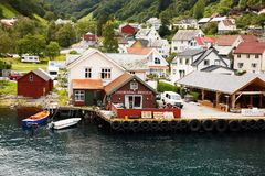 Village in Norway Stock Photos
