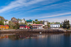 Village on the norwegian island Stock Images
