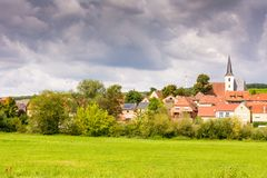 Village Obereisenheim in Franconia. Germany stock photos