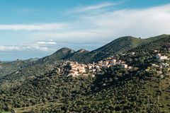 Free Village Of Belgodere In Balagne Region Of Corsica Royalty Free Stock Photos - 131055508