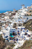 Village Oia of Cyclades island Royalty Free Stock Photos
