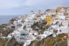 Village Oia on greek island Santorini Stock Photos