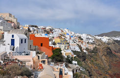 Village Oia on greek island Santorini Stock Image