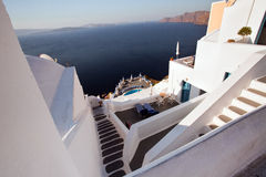 Village at Oia, Santorini Stock Images