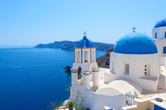 Village of Oia in Santorini Royalty Free Stock Photography