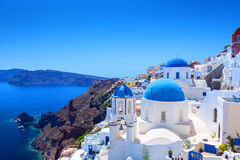Village of Oia in Santorini Royalty Free Stock Photos