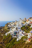 Village Oia at Santorini, Greece stock image