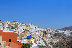 Village of Oia in Santorini, Greece Stock Photos