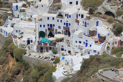 Village of Oia in Santorini, Greece. The architecture of the village of Oia in Santorini, Greece Stock Images
