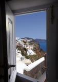 Village of Oia in Santorini, Greece Stock Photos