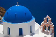 Village of Oia in Santorini, Greece Royalty Free Stock Photos