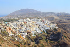 Village of Oia in Santorini with height Stock Image