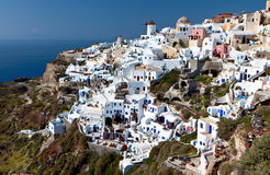 Village of Oia at Santorini island in Greece Stock Photography