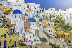 Village of Oia in Santorini Island Royalty Free Stock Photo