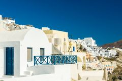 Oia in Santorini island Greece Royalty Free Stock Photos