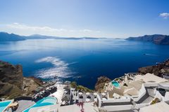 Oia in Santorini island Greece Royalty Free Stock Photography