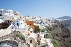 Village of Oia on Santorini  Royalty Free Stock Photography