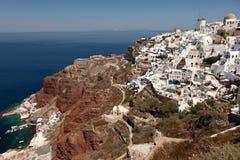 Village Oia sur l'île de Santorini Images libres de droits