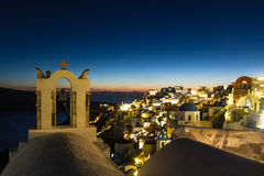 Village of Oia during twilight Royalty Free Stock Photo