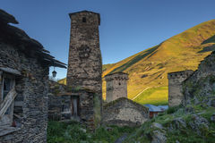 Village. Old village on caucasus mountain Stock Photography