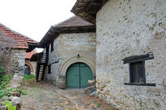 Village of old wine cellars Stock Images