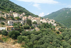The village of Olmeto on the island of Corsica Stock Photos