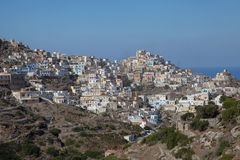 The village Olympos on the island Karpathos Royalty Free Stock Image