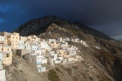 The village Olympus. The village Olymbps is 700 m over the sea lavel,a beautiful place to stand Stock Photos