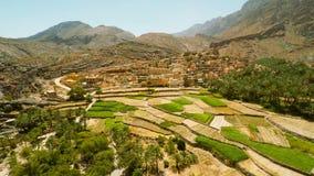 Village omanais dans les montagnes banque de vidéos