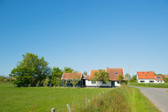 Village Oosterend on Dutch Texel Royalty Free Stock Images