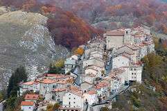 The village of Opi at Abruzzo National Park stock image
