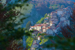 The village of Opi at Abruzzo National Park in Italy Stock Image