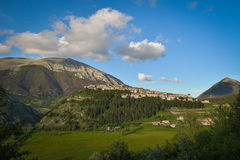 The village of Opi at Abruzzo National Park in Italy Royalty Free Stock Photos